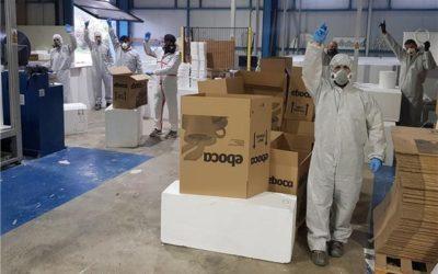 """Tecmolde no para ni en domingo, lleva casi 100.000 máscaras y un aluvión de pedidos. El """"crowdfunding"""" se acerca a los 70.000 euros para material sanitario"""