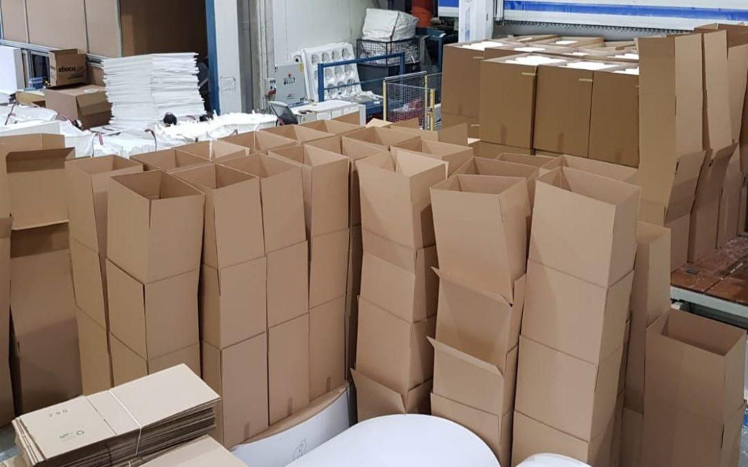 Duplicamos la producción de máscaras de protección. Ya se han superado las 150.000.